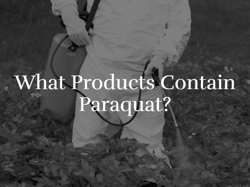 What products contain paraquat